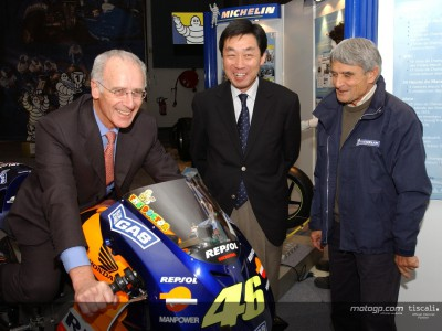 MotoGP's first winning bike on show at Michelin