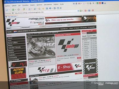 The official website motogp.com receives 30 million visits in 2005