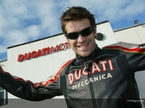 Prima visita per Checa alla Ducati