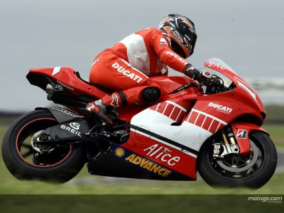 Ducati concentrate on rear tyre development