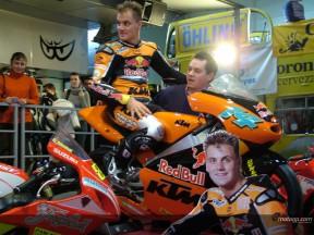 Talmasci präsentiert seine KTM in Budapest