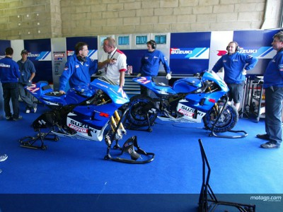 Team Suzuki gets tooled up for the new season