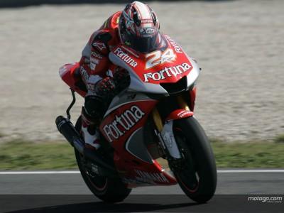 Le cadute marcano la prima giornata di test del team Fortuna Yamaha