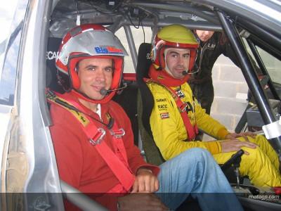 Crivillé genoss Rallye Test in Spanien