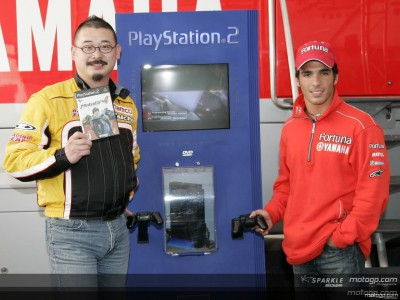 Namco's MotoGP4 on display at Estoril