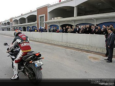 First lap of the new MotoGP circuit in Istanbul
