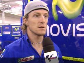Melandri beats Gibernau to the podium