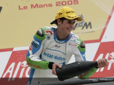 Thomas Lüthi on his first GP win