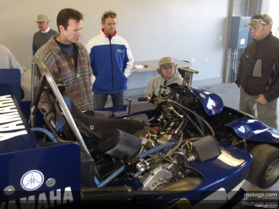 MotoGP Legenden fahren Super Karts
