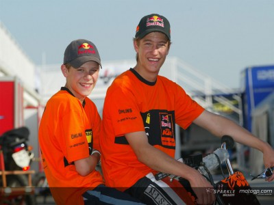 I giovani della KTM al massimo della carica