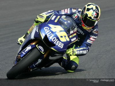 Rossi fastest in first practice session