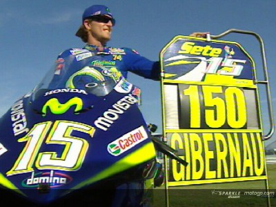Gibernau celebrates his 150th Grand Prix