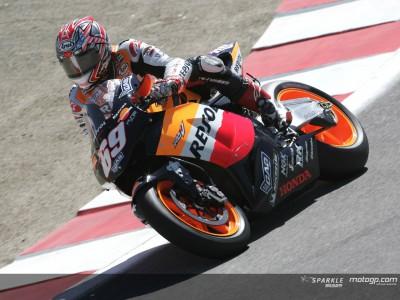 Hayden on top as MotoGP returns to Laguna Seca