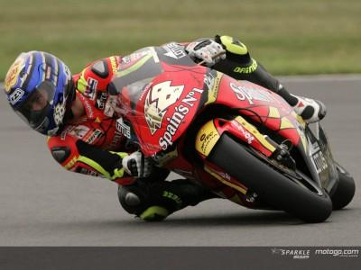 Jorge Lorenzo in pole provvisoria, seguono De Angelis e Aoyama
