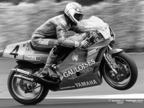 Sarron on his win at the '85 German GP