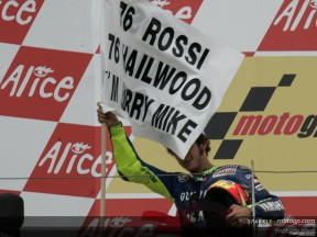 Rossi equals Hailwood with 76th GP win