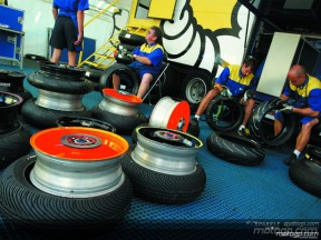 Michelin and MotoGP tyres logistics