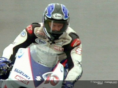 Roberts celebrates his 100th Suzuki start
