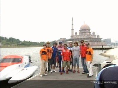 MotoGP riders take to the sea