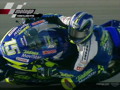 Losail 2004: Gibernau wins as Rossi crashes