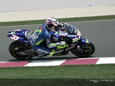 Melandri on top