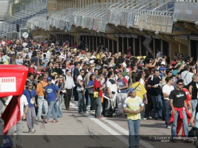 MotoGP tees off with charity day at Valencia