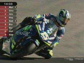 Gibernau signe une pole record, Rossi chute