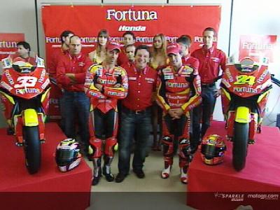 Melandri y Elías, apuestas del Fortuna Honda MotoGP en 2006