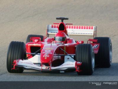 Rossi en piste… avec Ferrari