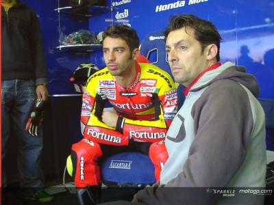 Melandri and Gresini talk bikes