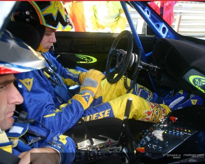Rossi beats McRae in Monza Rally Showdown