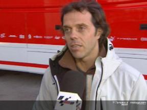 Gibernau y Capirossi contentos con el trabajo realizado en Jerez