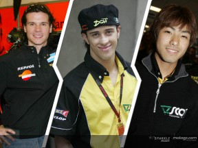 Dovizioso, Porto y Takahashi, las estrellas de Honda en 250cc