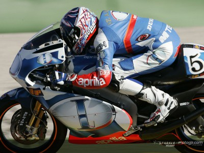 The  250cc and 125cc  riders take to the track in Jerez