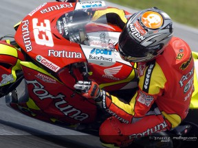 Melandri war schnellster Hondafahrer beim Sepang Test