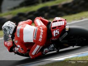 Auf trockener Strecke in Phillip Island war Ducati Marlboro wieder an der Spitze
