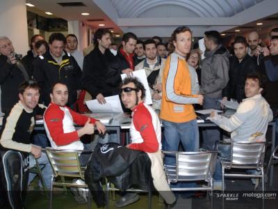 Capirossi et Gibernau en visite chez Ducati