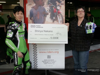 Nakano soutient la cause de Riders for Health