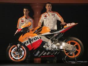 Presentazione Repsol Honda sul circuito di Montmeló