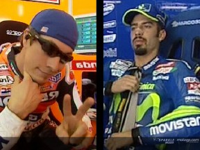 Melandri and Hayden: The race for second place