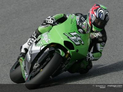 Nakano beim vorletzten Training der Vorsaison in Jerez Schnellster