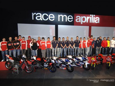 Aprilia gather lower cylinder troops in Milan