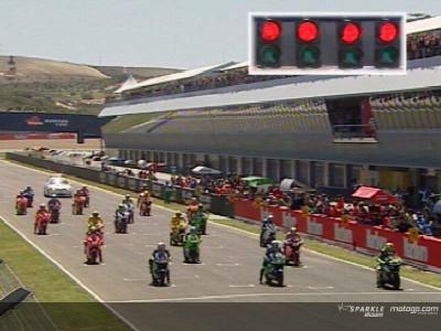 Jerez 2005: Rossi-Gibernau spalla a spalla