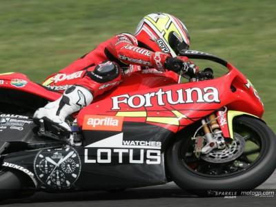 Barbera and Lorenzo top two in 250cc