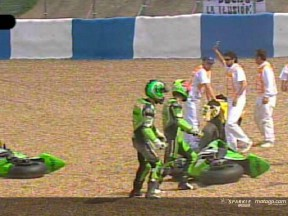 Crash at Angel Nieto turn affects Jerez grid
