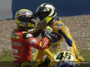 Elias apologizes for Rossi's crash
