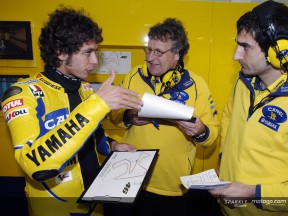 Rossi tests onboard the M1 2005