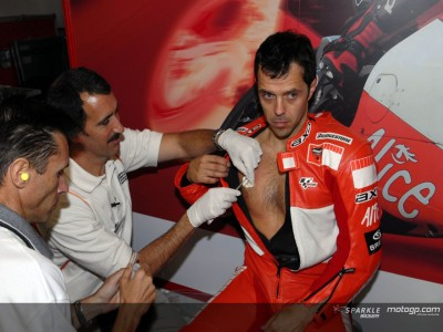 Capirossi sweats it out for science