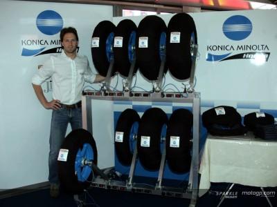 Konica Minolta estrena calentadores de neumáticos