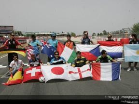Il Mondiale di calcio contagia i piloti del MotoGP